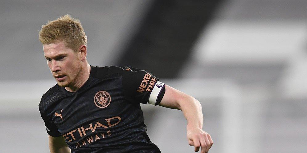 Gelandang Manchester City Kevin De Bruyne.