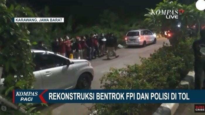 Berikut hasil rekontruksi anggota kepolisian dan Laskar FPI yang digelar pada Senin (14/12) dini hari.