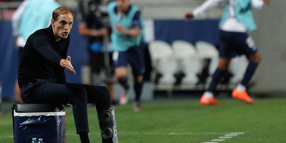 Thomas Tuchel ketika memimpin PSG melawan Bayern Munchen di final Liga Champions.