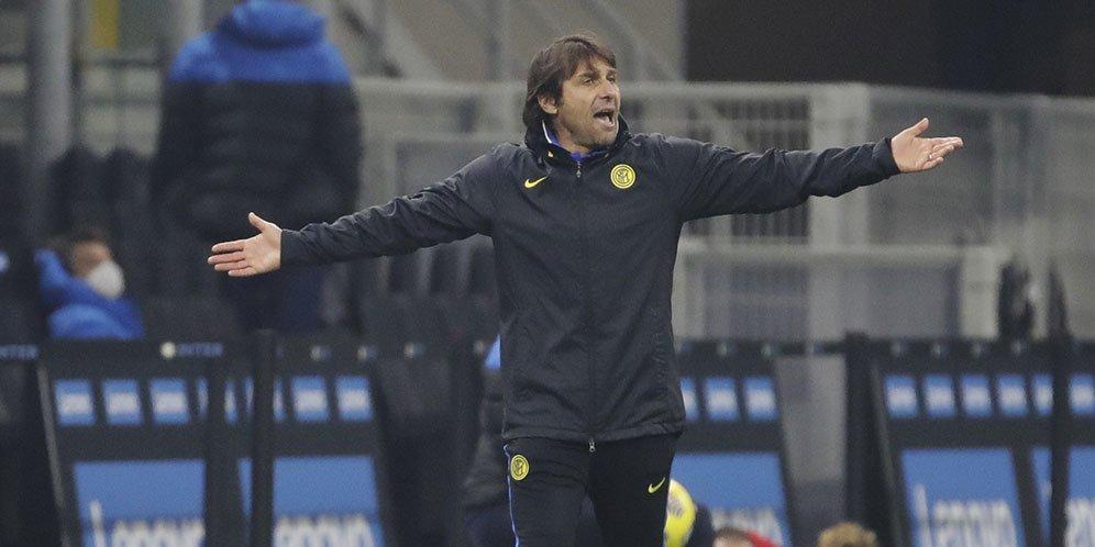 Pelatih Inter Milan Antonio Conte. © AP Photo