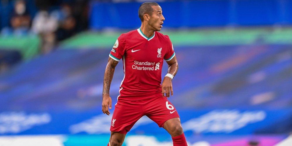 Debut Thiago Alcantara bersama Liverpool. © AP Photo