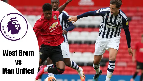 Premier League, West Brom vs Manchester United