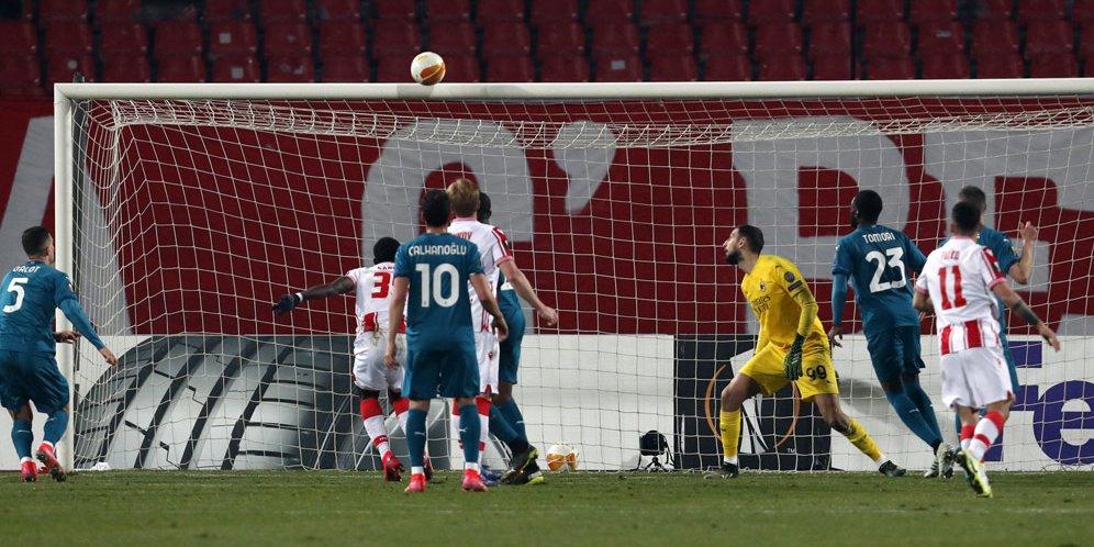 Red Star Belgrade vs AC Milan di babak 32 Besar Liga Europa