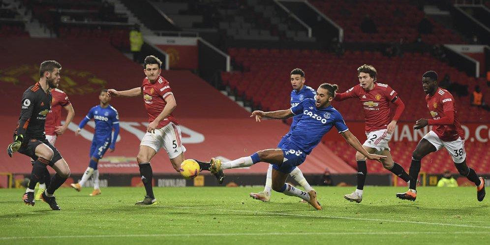 Manchester United vs Everton pada pekan ke-23 Premier League musim 2020/2021