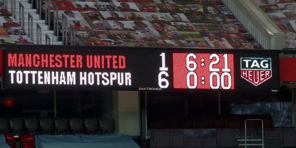 Premier League, Manchester United 1-6 Tottenham